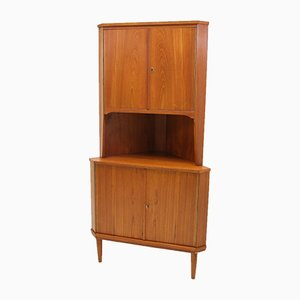 Danish Teak Corner Cupboard, 1966
