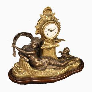 Französische Vergoldete Bronze Uhr, 1930er