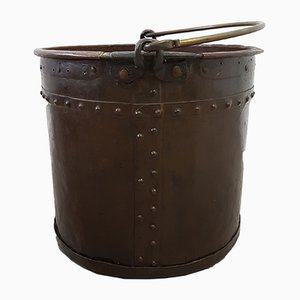 Mid-19th Century Victorian Copper & Brass Coal Bucket, 1850s