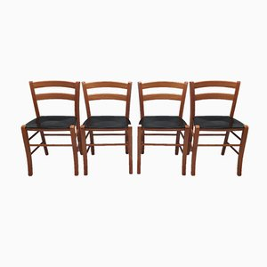 Marocca Dining Chairs by Vico Magistretti for Depadova, 1987, Set of 4