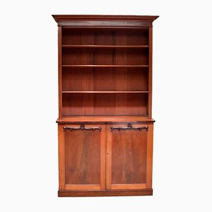 Victorian Substantial Mahogany Cabinet Bookcase