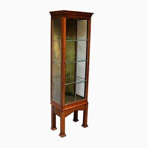 Oak Arts & Crafts Display Cabinet
