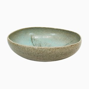 Ceramic Bowl in Turquoise Colors Number 262 by Eva Stæhr Nielsen for Saxbo, 1950s