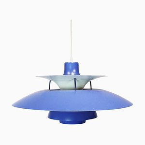 Blue PH5 Pendant Lamp by Poul Henningsen for Louis Poulsen, 1960s