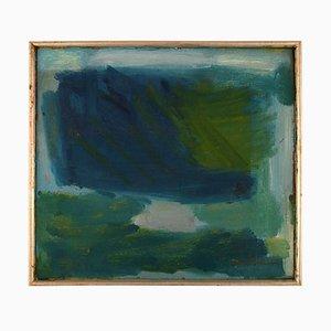 Oil on Canvas Modernist Composition by Olle Folke Olsson, 1950s