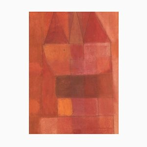 Swedish Oil on Board Modernist Composition by Hans Osswald