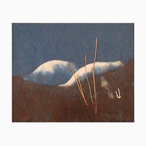Swedish Wool on Board Modernist Mountain Landscape by Lisa Johansson