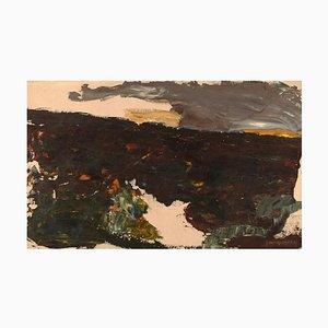 Schwedische Öl auf Leinwand Moderne Landschaft von John Thorgren, 1963