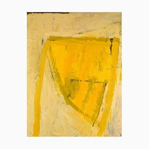 Swedish Oil on Canvas Modernist and Abstract Composition by Lars Givell, 1960s