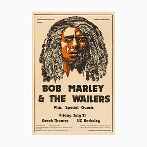 Bob Marley & the Wailers Poster by Colleen Cannon, 1978