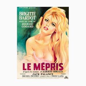 Affiche Le Mépris par Georges Allard, 1963