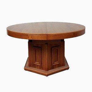 Mid-Century Rosewood Circular Pedestal Dining Table
