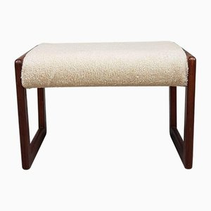 Mid-Century Teak Dressing Table Stool