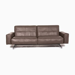 Brown Leather 3-Seat Sofa from Rolf Benz