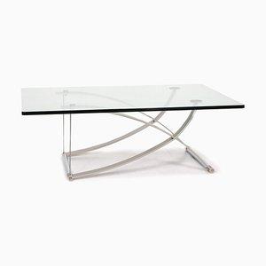 Glas und Metall Couchtisch von Rolf Benz