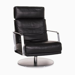 345 Black Leather Armchair from Rolf Benz