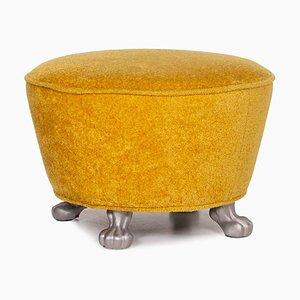 Yellow Velvet Stool from Bretz
