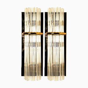 Modern Glass Rod Sconces by Gaetano Sciolari for Lightolier, 1960s, Set of 2