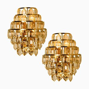 Modern Crystal Glass Sconces by Bakalowits & Söhne, 1960s, Set of 2