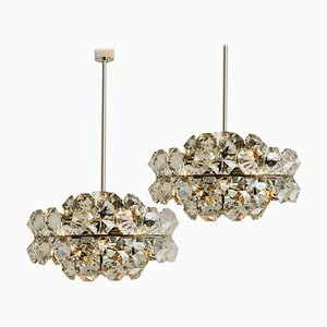 Diamond Chandeliers by Bakalowits & Söhne, Austria, 1970s, Set of 2