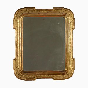 Mid-19th Century Italian Shaped Gilded Mirror