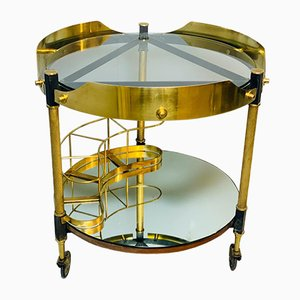 Italian Mirror and Glass Bar Cart, 1960s