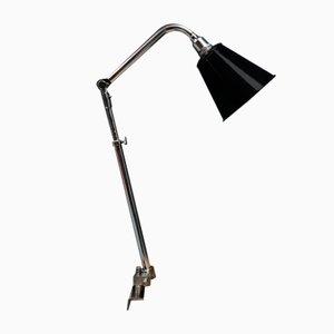French Ki-E-Klair Clamp Lamp with Enamel Shade, 1950s
