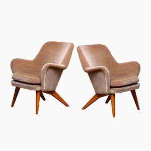 Lounge Chairs by Carl Gustav Hiort af Ornäs for Puunveisto Oy, 1950s, Set of 2
