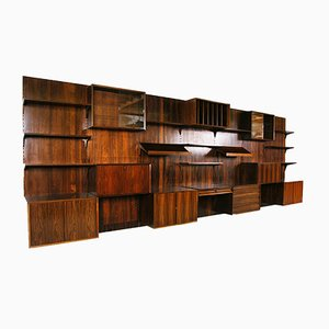 Mid-Century Danish Rosewood Wall System by Poul Cadovius for Cado