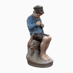 Boy Figurine from Royal Copenhagen, 1990s