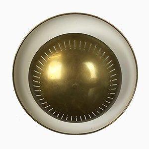 Italienische Mid-Century Messing Wandlampen im Stil von Stilnovo, 1950er, 4er Set