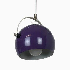 Vintage Pop Art German Adjustable Purple Ceiling Lamp in the Style of Panton, 1970s