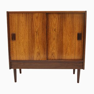 Rosewood Veneer Sliding Door Cabinet or Chest of Drawers, 1966