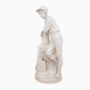 Figurine de Villageois en Porcelaine, Pologne, 1980s