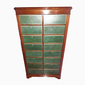 Antique Louis Philippe French Mahogany Cartonier Chest of Drawers