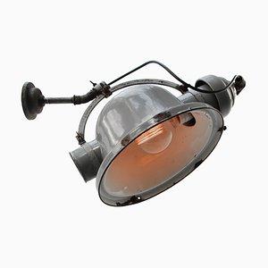 Vintage Industrie Wandlampe in Grau und Gusseisen von Beseg Licht