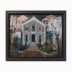 Villa Oil Painting by Ismael de la Serna, 1952