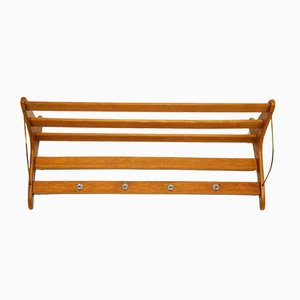 Mid-Century Danish Teak Wall Mounted Rack