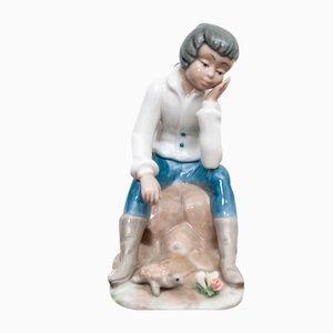 Spanische Boy Figurine aus Porzellan von Tengra, 1970er