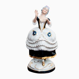 Czechoslovak Porcelain Lady Figurine from Royal Dux, 1960s