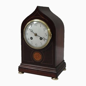 Antique French Mahogany Mantel Clock from Samuel Marti, 1900s