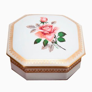French Porcelain Casket from Limoges, 1980s