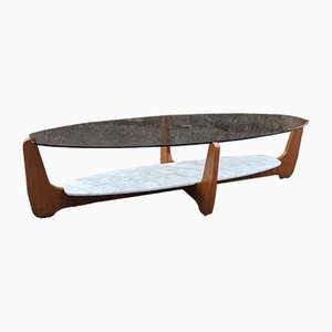 Oval Coffee Table by Hugues Poignant for D.A.D., 1960s