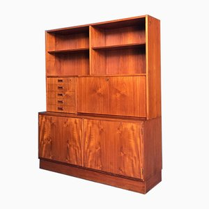 Mid-Century Danish Blond Teak Highboard, 1960s
