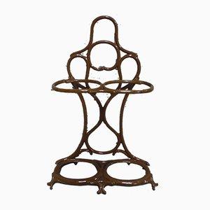 Art Nouveau Cast Iron Umbrella Stand from Fonderie Corneau Alfred