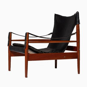 Mid-Century Model Antilope Safari Lounge Chair by Hans Olsen for Viskadalens Möbler, 1960s