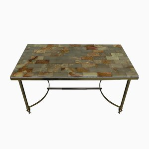 Hollywood Regency Coffee Table with Onyx Top, 1960s