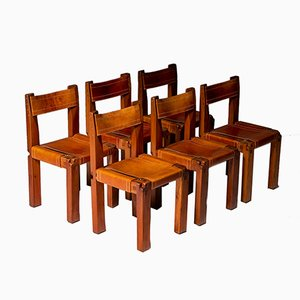 Model S11 Dining Chairs by Pierre Chapo, 1966, Set of 6