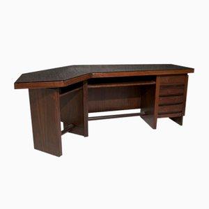 Italian Walnut Boomerang Desk, 1960s