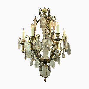 Antique Russian Gilt Bronze and Crystal Chandelier, 1850s